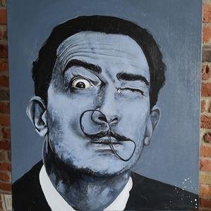 Salvafor Dali portrait Acrylic